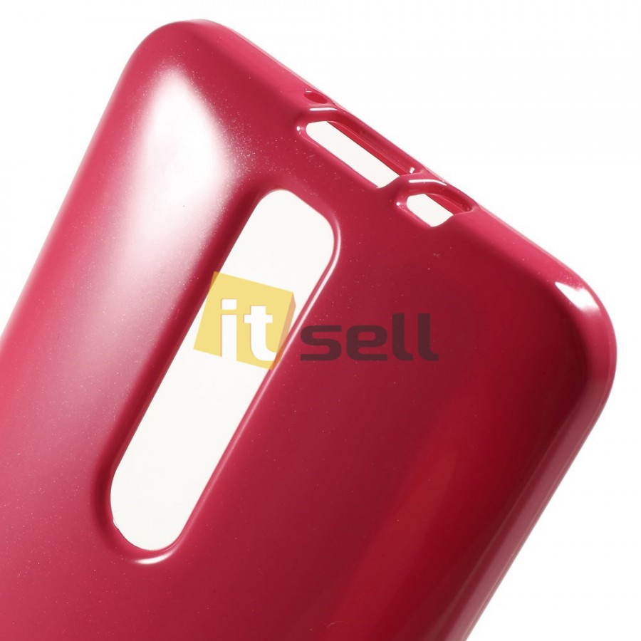 TPU чехол Mercury Jelly Color series для Asus Zenfone 2 (ZE551ML/ZE550ML) Малиновый на itsell.ua
