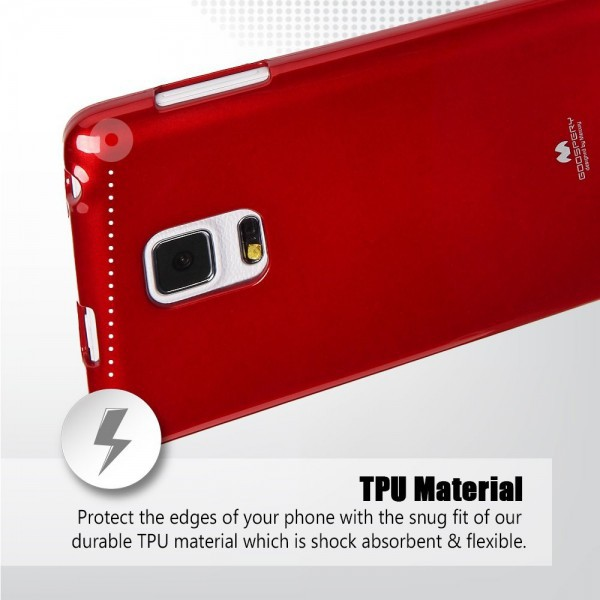 Фото TPU чехол Mercury Jelly Color series для Samsung Galaxy Note Edge N915F Красный на itsell.ua