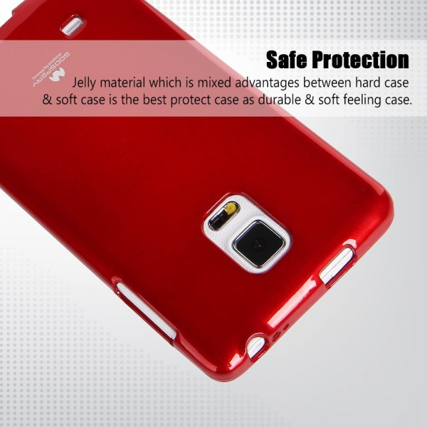 Фото TPU чехол Mercury Jelly Color series для Samsung Galaxy Note Edge N915F Красный в магазине itsell.ua