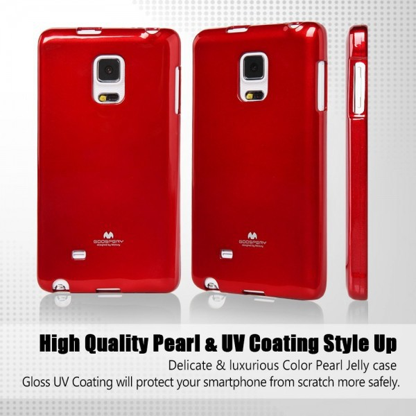 TPU чехол Mercury Jelly Color series для Samsung Galaxy Note Edge N915F Красный в магазине itsell.ua