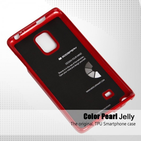 TPU чехол Mercury Jelly Color series для Samsung Galaxy Note Edge N915F Красный на itsell.ua