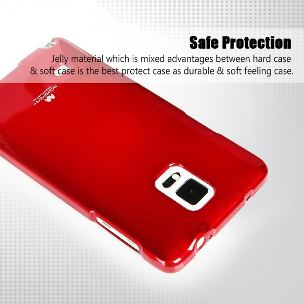 Фото TPU чехол Mercury Jelly Color series для Samsung N910H Galaxy Note 4 Красный в магазине itsell.ua