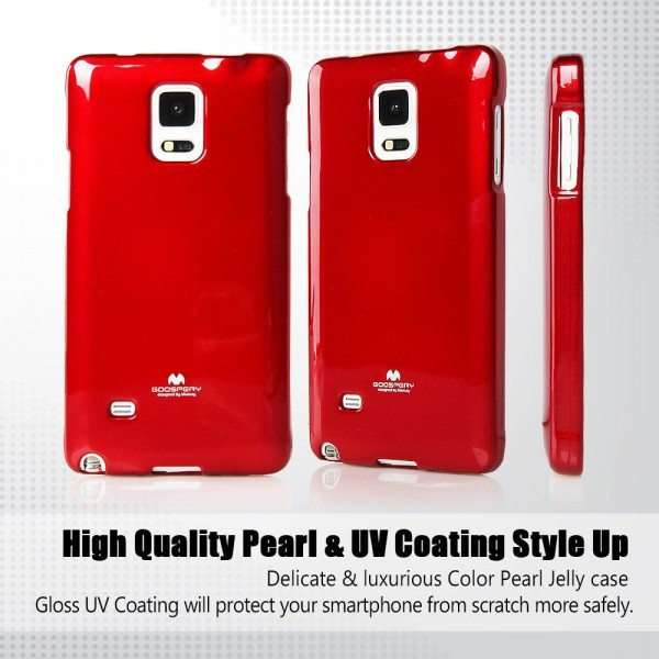 TPU чехол Mercury Jelly Color series для Samsung N910H Galaxy Note 4 Красный в магазине itsell.ua
