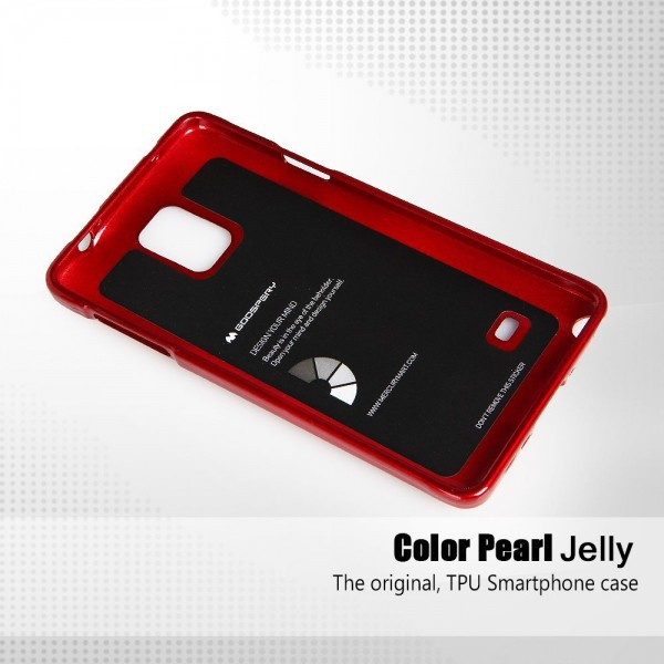 TPU чехол Mercury Jelly Color series для Samsung N910H Galaxy Note 4 Красный на itsell.ua