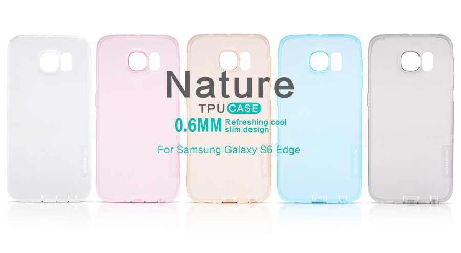 Фото TPU чехол Nillkin Nature Series для Samsung G925F Galaxy S6 Edge (1 цвет) на itsell.ua