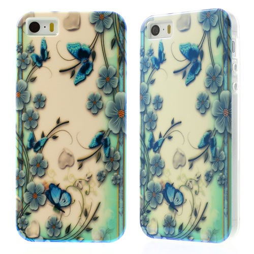 Купить TPU чехол IMD Print 'Butterflies in the Flowers' для Apple iPhone 5/5S за 159 грн