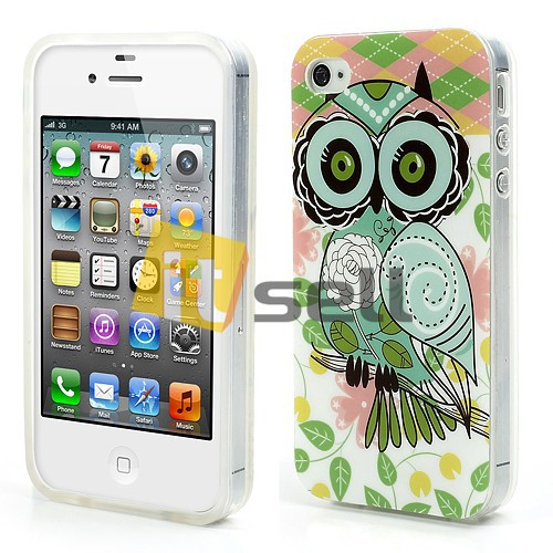 Купить TPU чехол IMD Print 'Cute Flower Owl' для Apple iPhone 4/4S за 159 грн