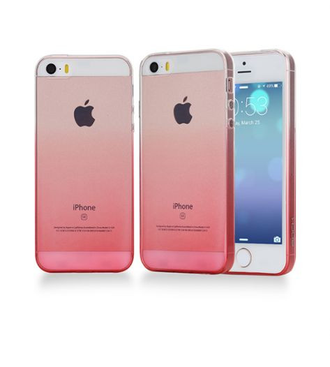 Фото TPU чехол ROCK Iris series для Apple iPhone 5/5S/SE Розовый / Transparent pink на itsell.ua