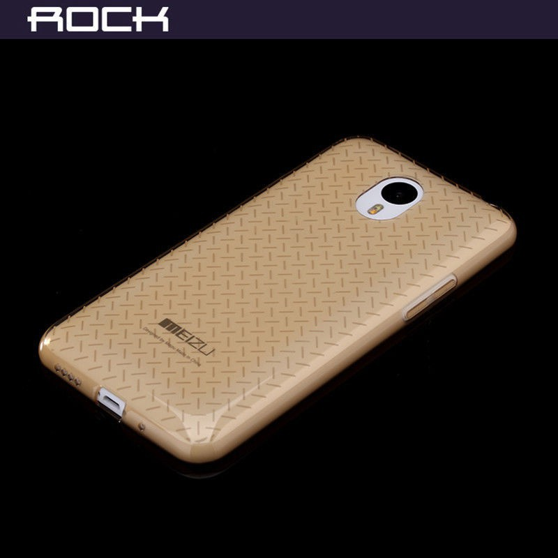Фото TPU чехол ROCK Ultrathin Slim Jacket для Meizu M1 Note Золотой / Transparent Gold на itsell.ua