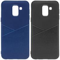 Купить TPU чехол с имитацией кожи Leather Half для Samsung J600F Galaxy J6 (2018), Epik