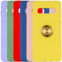TPU чехол Summer ColorRing под магнитный держатель для Samsung Galaxy S10+