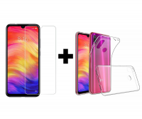 TPU чехол X-Level Anti-Slip series для Xiaomi Redmi 7 + Защитное стекло Ultra 0.33mm для Xiaomi Redmi 7