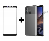 TPU чехол X-Level matte series для Xiaomi Redmi Note 5 Pro / Note 5 (DC) + Гибкое ультратонкое стекло Mocoson Nano Glass для Xiaomi Redmi Note 5 Pro / Note 5 (AI Dual Camera)