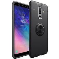 TPU чехол Deen ColorRing под магнитный держатель (opp) для Samsung Galaxy A6 (2018)