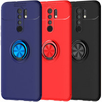 TPU чехол Deen ColorRing под магнитный держатель (opp) для Xiaomi Redmi 9