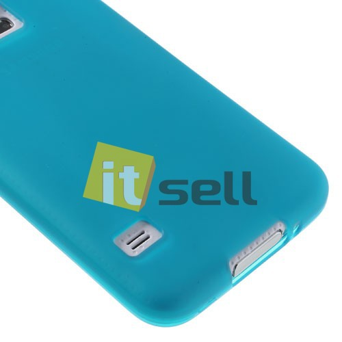 TPU Double-sided для Samsung G900 Galaxy S5  Бирюзовый (soft-touch) на itsell.ua