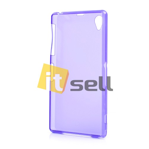TPU Matte Double-sided для Sony Xperia Z1 Фиолетовый (soft touch) на itsell.ua