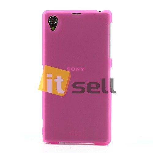 Фото TPU Matte Double-sided для Sony Xperia Z1 Розовый (Soft touch) на itsell.ua
