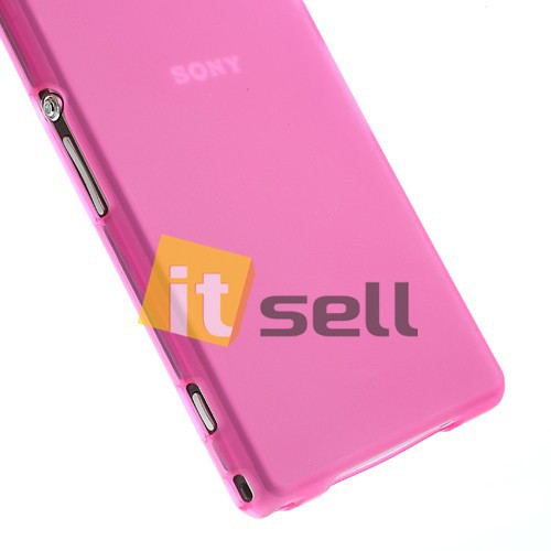 TPU Matte Double-sided для Sony Xperia Z1 Розовый (Soft touch) в магазине itsell.ua