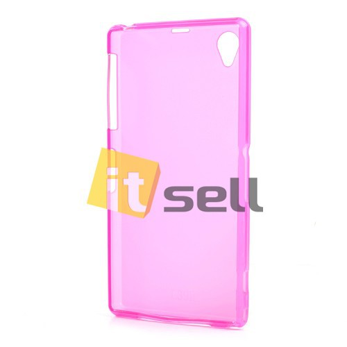 TPU Matte Double-sided для Sony Xperia Z1 Розовый (Soft touch) на itsell.ua