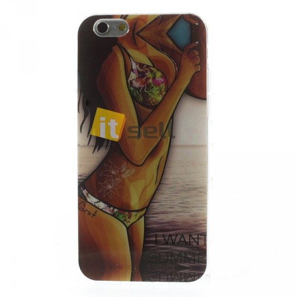 Купить TPU чехол IMD Erotic Print для Apple iPhone 6/6s (4.7') (2 цвета) за 15 грн