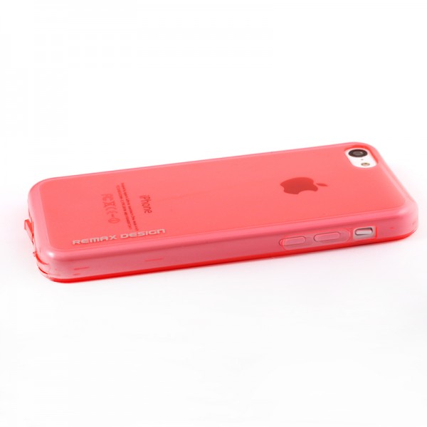 Фото TPU чехол Remax Pudding для Apple iPhone 5C Красный на itsell.ua