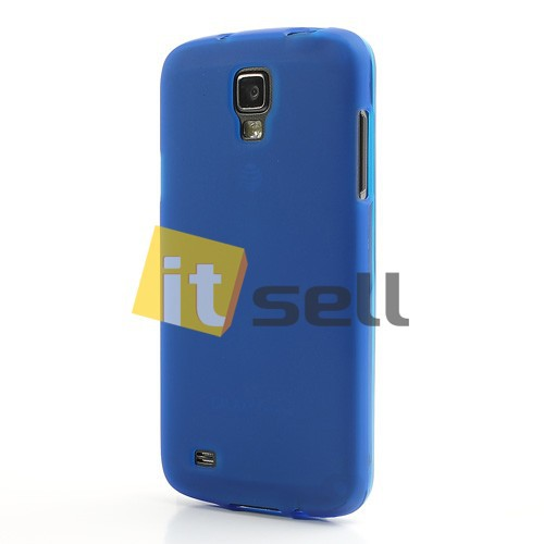Фото TPU чехол для Samsung i9295 Galaxy S4 Active Синий (soft touch) на itsell.ua