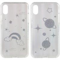 "TPU+Glass чехол Aurora Space для Apple iPhone X / XS (5.8"")"