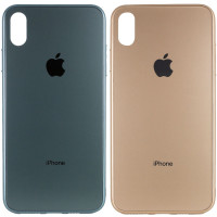 "TPU+Glass чехол GLOSSY Logo Full camera для Apple iPhone X / XS (5.8"")"