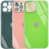 "TPU+Glass чехол GLOSSY Logo Full camera (opp) для Apple iPhone 12 Pro Max (6.7"")"