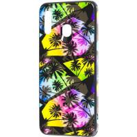 TPU+Glass чохол Cute Print для Samsung Galaxy M30