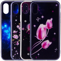 "TPU+Glass чехол Fantasy с глянцевыми торцами для Apple iPhone XS (5.8"")"
