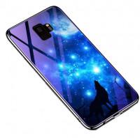 TPU+Glass чохол Fantasy з глянсовими торцями для Samsung Galaxy S9