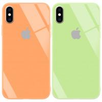 "TPU+Glass чохол GLOSSY Logo series для Apple iPhone XS Max (6.5"")"