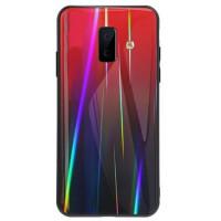 Купить TPU+Glass чехол Gradient Aurora для Samsung Galaxy J6+ (2018), Epik