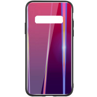 TPU+Glass чехол Gradient Aurora для Samsung Galaxy S10