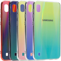 TPU+Glass чехол Gradient Aurora с лого для Samsung Galaxy A10 (A105F)
