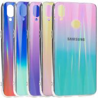 Купить Чехлы, TPU+Glass чехол Gradient Aurora с лого для Samsung Galaxy A10s, Epik