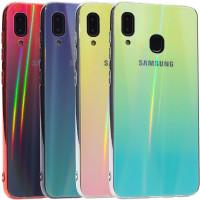 TPU+Glass чехол Gradient Aurora с лого для Samsung Galaxy A20 (A205F)