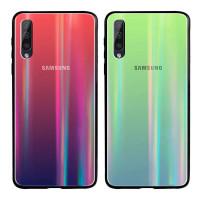 Купить Чехлы, TPU+Glass чехол Gradient Aurora с лого для Samsung Galaxy A50s, Epik