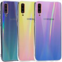 TPU+Glass чехол Gradient Aurora с лого для Samsung Galaxy A70 (A705F)