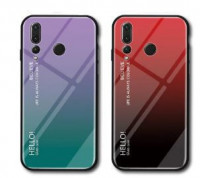 TPU+Glass чехол Gradient HELLO для Huawei Nova 4