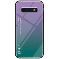 TPU+Glass чехол Gradient HELLO для Samsung Galaxy S10e