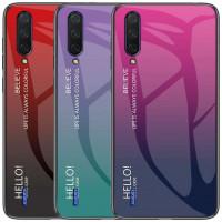TPU+Glass чехол Gradient HELLO для Xiaomi Mi A3