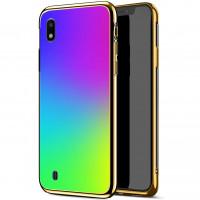 Купить Чехлы, TPU+Glass чехол Gradient Rainbow без лого для Samsung Galaxy A10 (A105F), Epik
