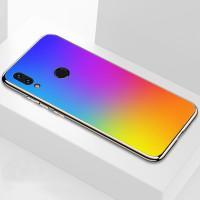 TPU+Glass чехол Gradient Rainbow без лого для Xiaomi Redmi 7