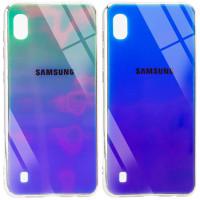 TPU+Glass чехол Gradient Rainbow с лого для Samsung Galaxy A10 (A105F)