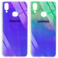 Купить Чехлы, TPU+Glass чехол Gradient Rainbow с лого для Samsung Galaxy A10s, Epik
