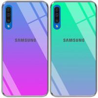 Купить Чехлы, TPU+Glass чехол Gradient Rainbow с лого для Samsung Galaxy A50s, Epik