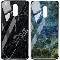 TPU+Glass чехол Luxury Marble для OnePlus 7